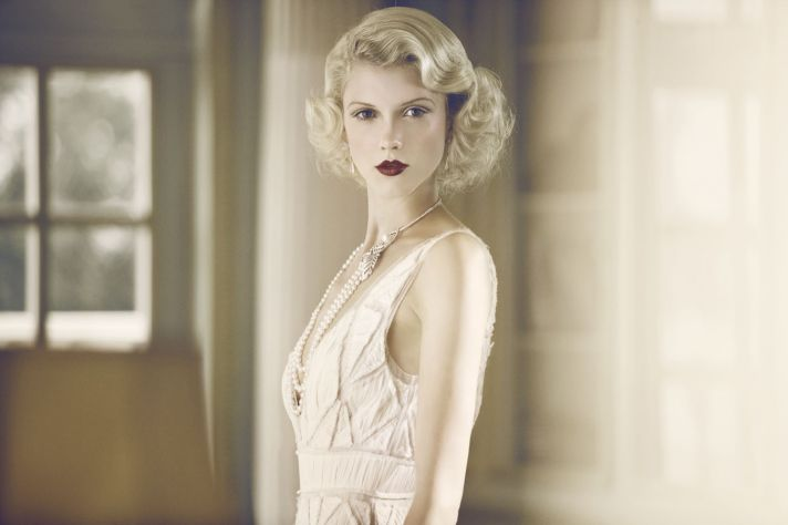 great gatsby inspired wedding hair and makeup