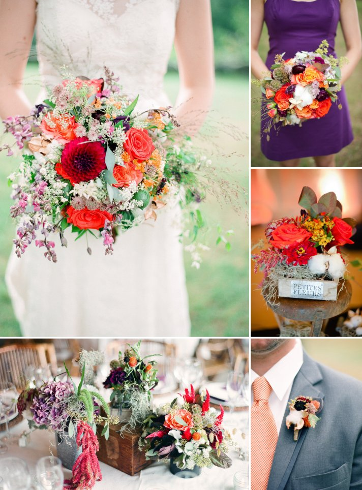9 gorgeous fall wedding color palettes crazyforus junglespirit Image collections
