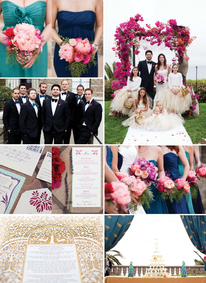 Jewel tones wedding colors