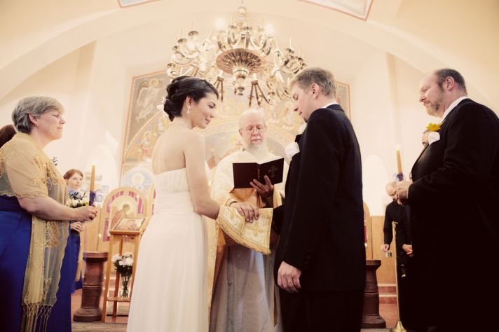 traditional wedding ceremony venue for Catholic Orthodox couples