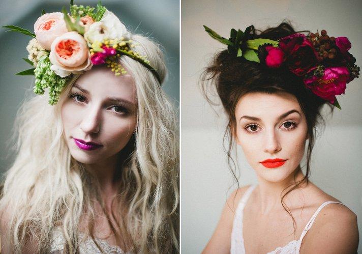 statement floral wedding headbands