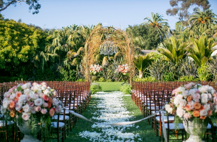 Romantic timeless wedding at the Four Seasons enchanted outdoor ceremony