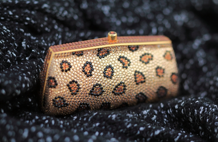 leopard print bridal clutch