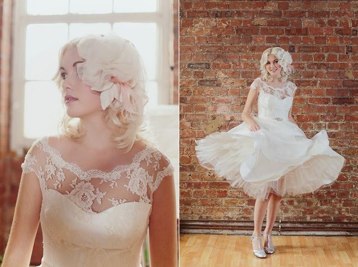 Tea Length Lace Wedding Dress 88 Awesome Lace illusion neckline tea
