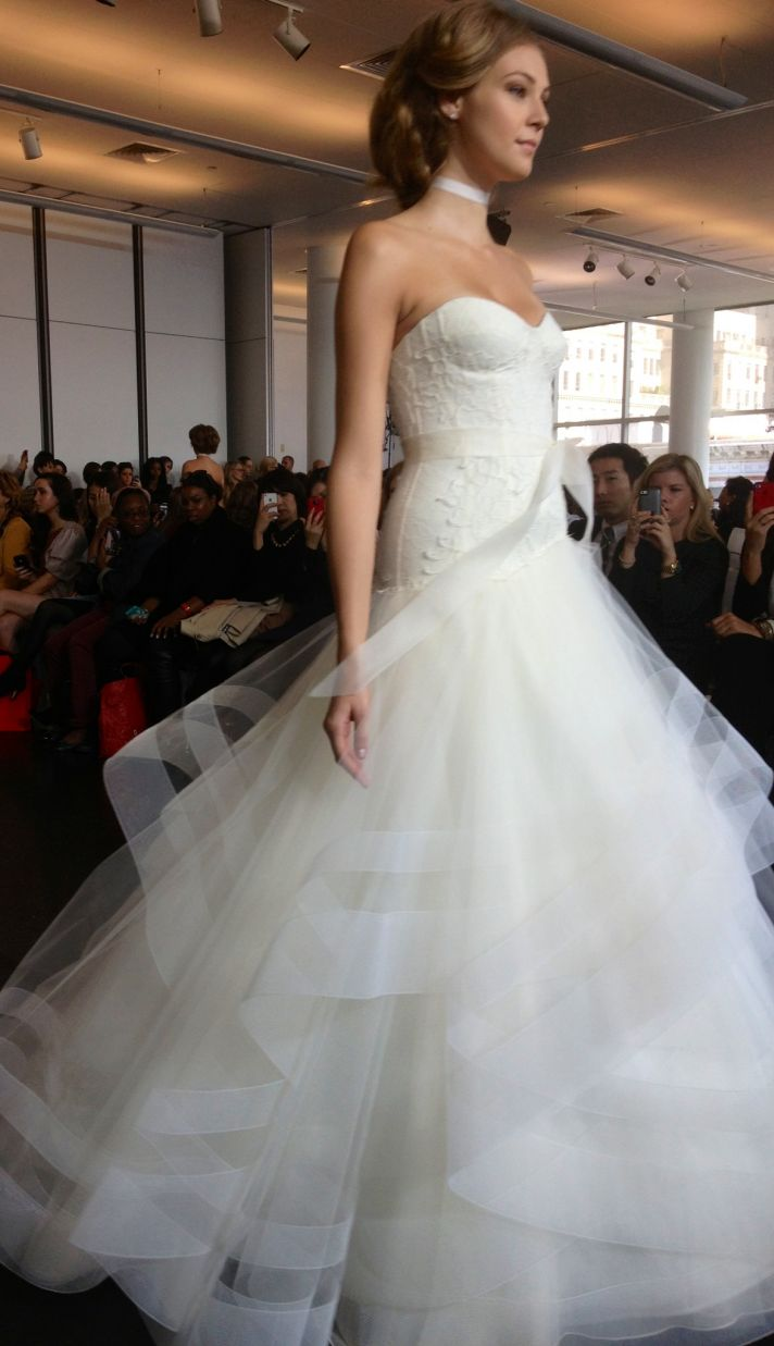 Rivini bridal runway 2014 wedding dress trends Texture