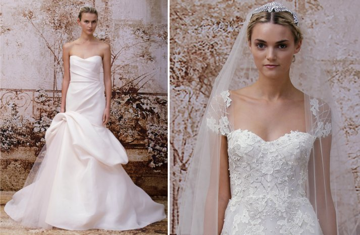 New Wedding Dress Collections 2014 Sneak Peek Monique Lhuillier 2