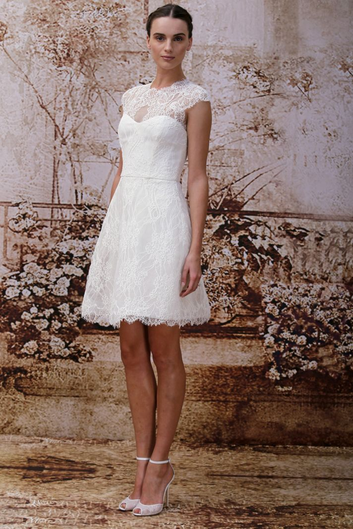 Wedding dress by Monique Lhuillier Fall 2014 bridal Look 5