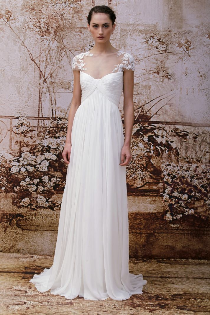 Wedding dress by Monique Lhuillier Fall 2014 bridal Look 10