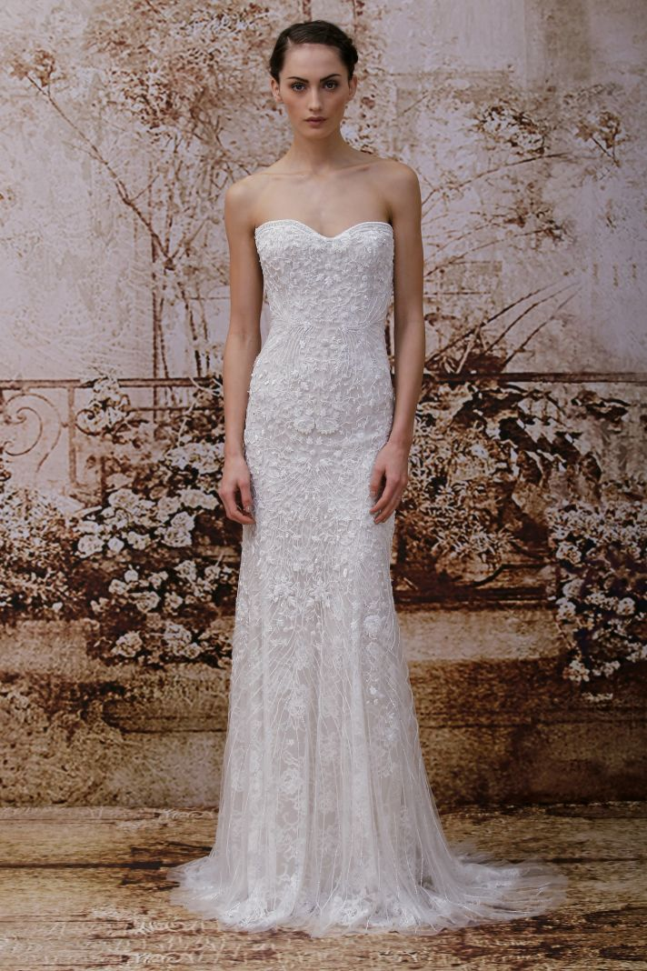 Wedding dress by Monique Lhuillier Fall 2014 bridal Look 15