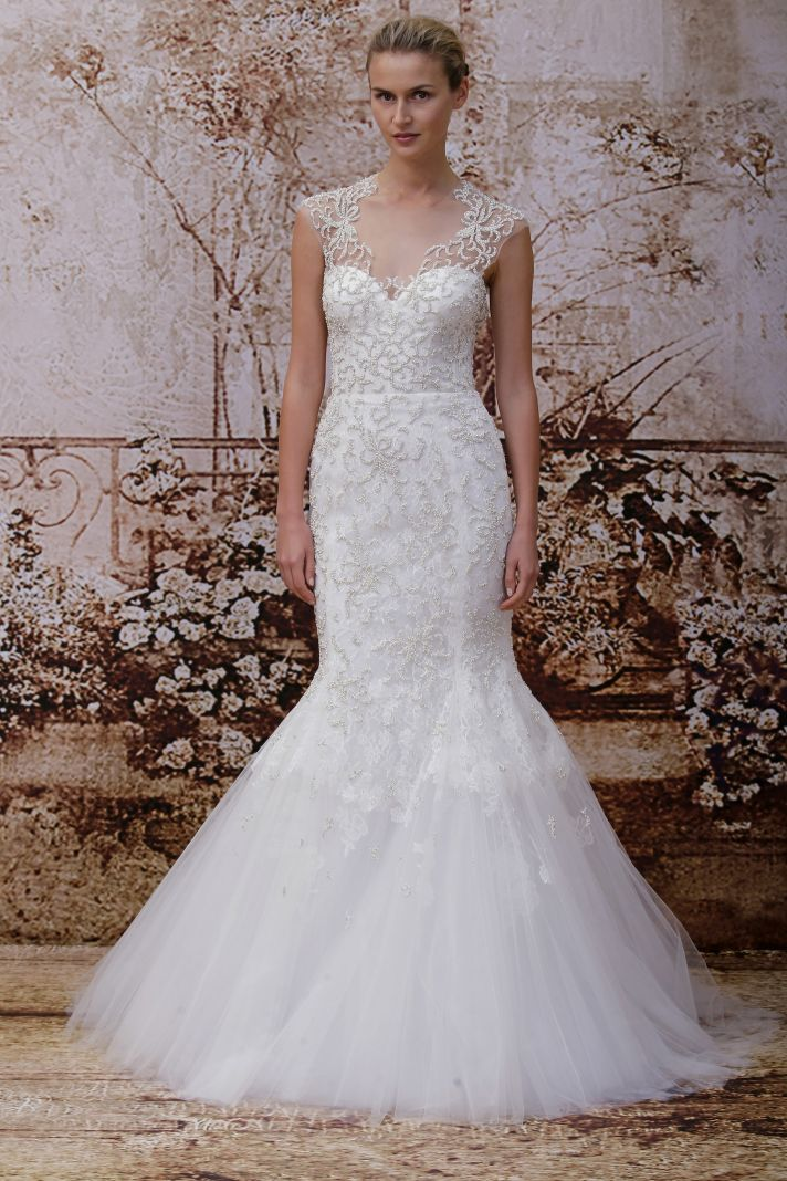 Monique lhuillier 39 s secret garden wedding dress collection for Monique lhuillier wedding dress