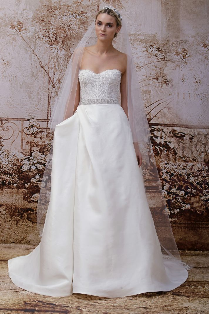 Wedding dress by Monique Lhuillier Fall 2014 bridal Look 31