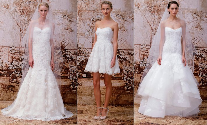 Monique Lhuillier wedding gowns Fall 2014 bridal 2