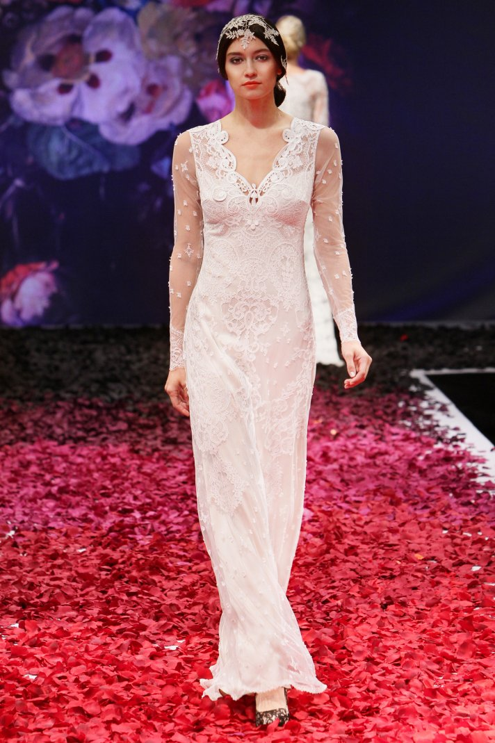 Lily wedding dress by Claire Pettibone 2014 Still Life bridal collection