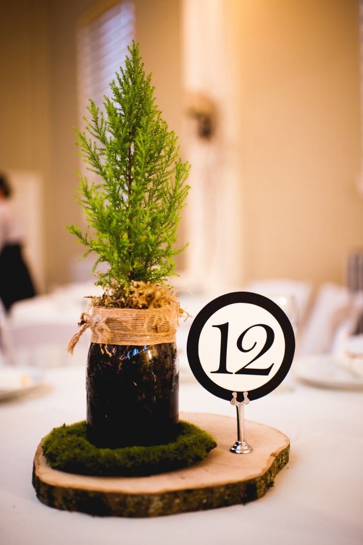 Rustic elegant wedding mossy favors basket
