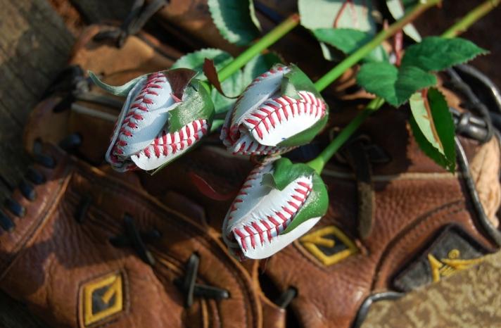 baseball roses for sports themed weddings