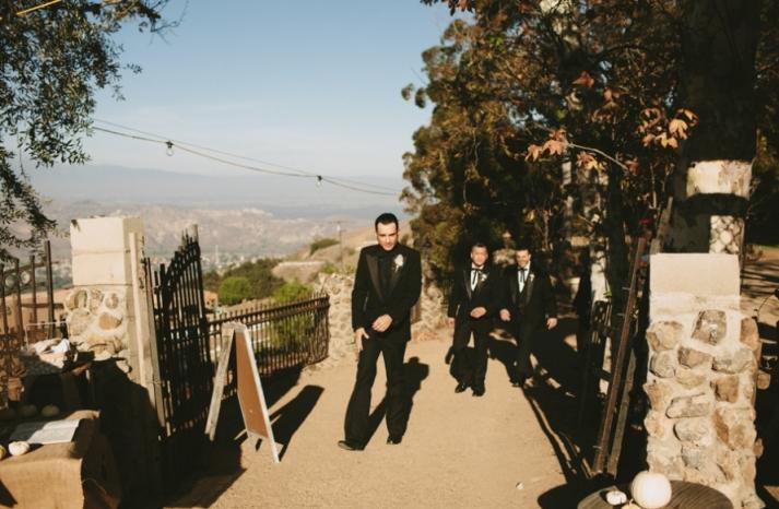 Portland real wedding modern gothic grooms attire