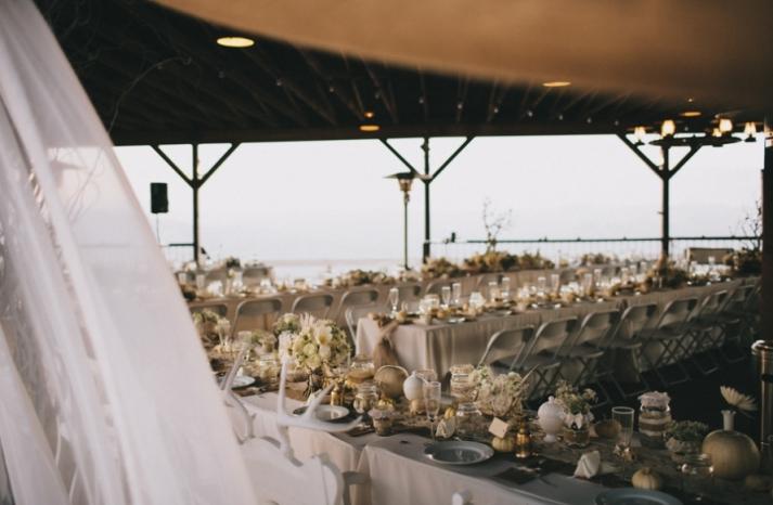 Portland real wedding reception tablescapes