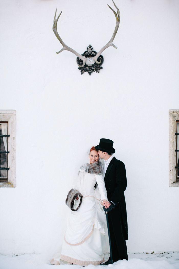 Winter Alice in Wonderland themed wedding grooms style