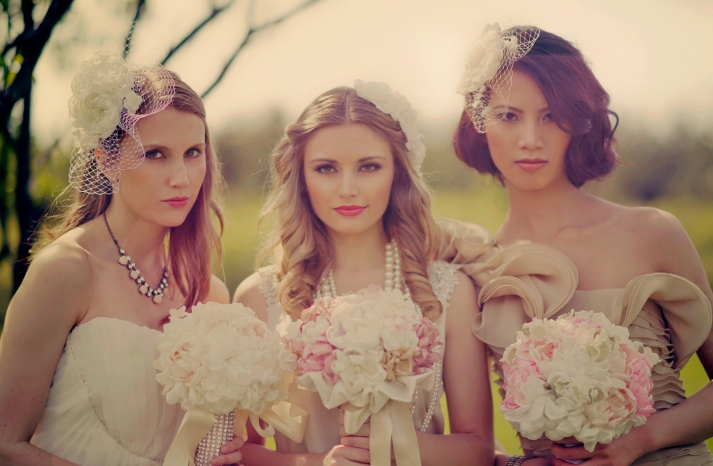 handmade peony wedding bouquets