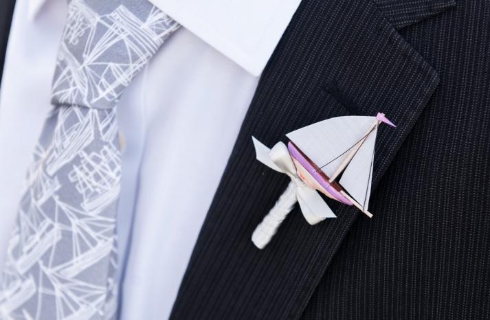 unique grooms boutonniere for sailors