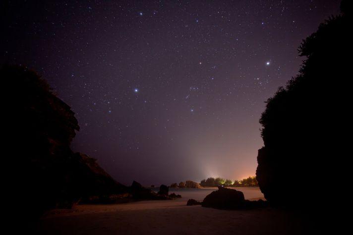 Bermuda horseshoe bay at night
