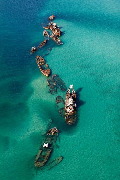 shipwrecks off the coast of the Bermuda triangle