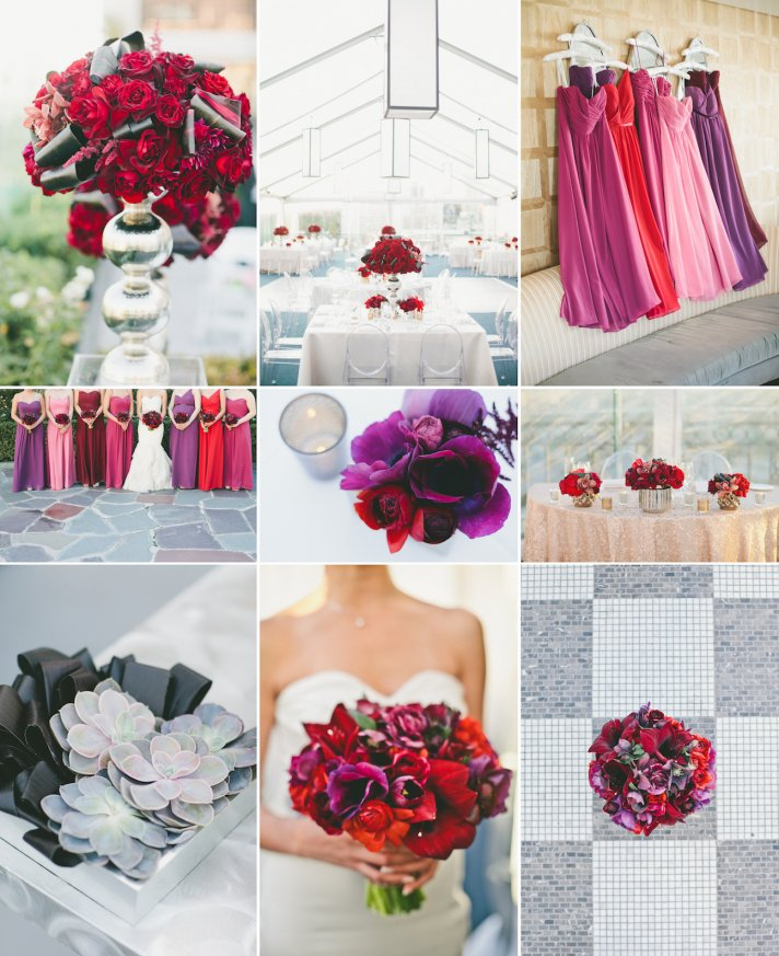 Jewel Tone Wedding Flowers: Amethyst + Ruby Wedding Colors To Love