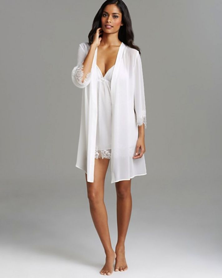 bridal robe and chemise