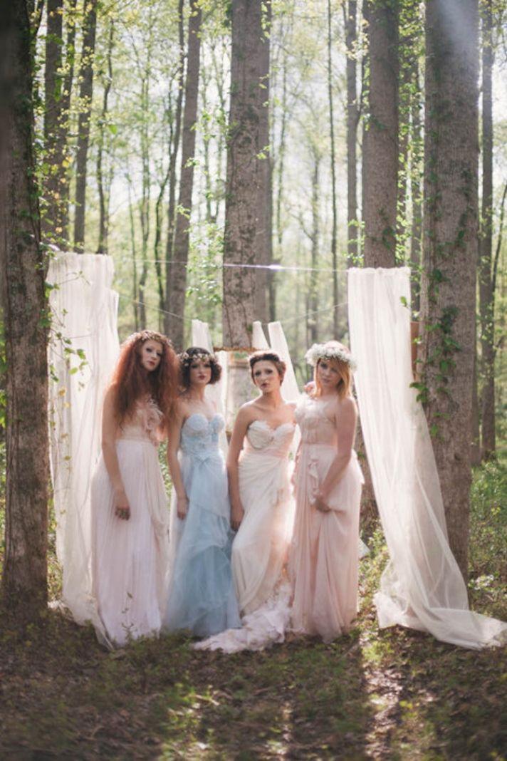 Alice in Wonderland Bridesmaids in the Woods