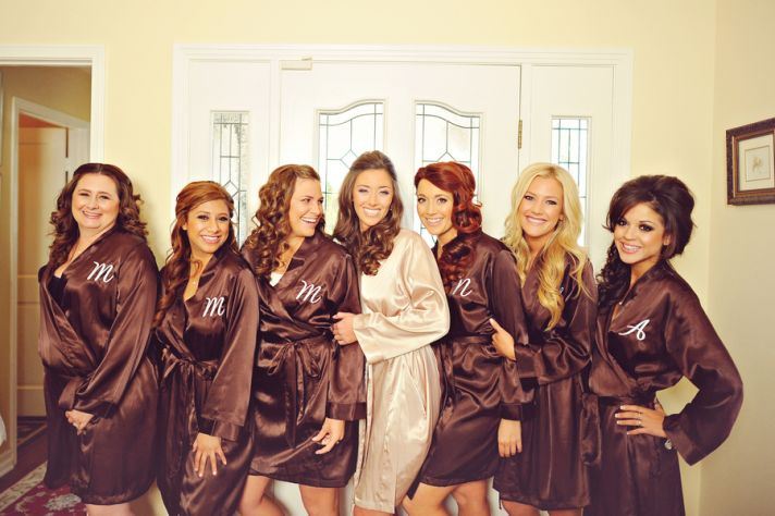 Brown bridesmaid robes