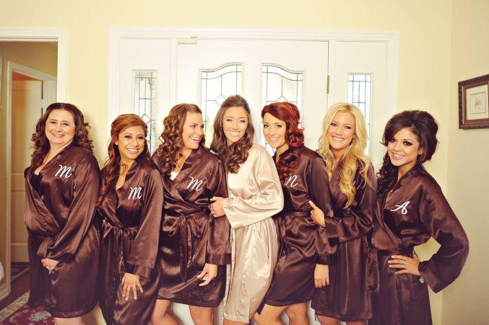 Brown bridesmaid robes