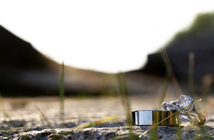 Rings on a natural backdrop