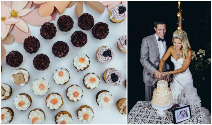 Cake cutting and mini desserts