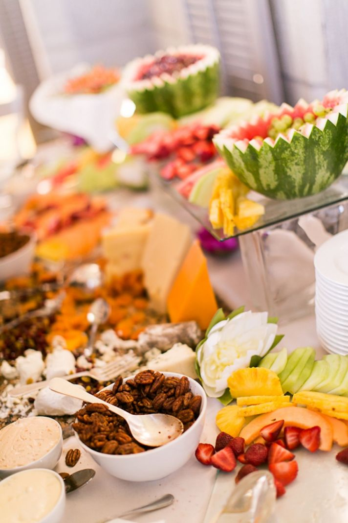 Food spread at a NY Real Wedding