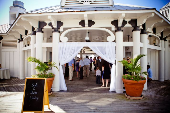 Beach reception venue