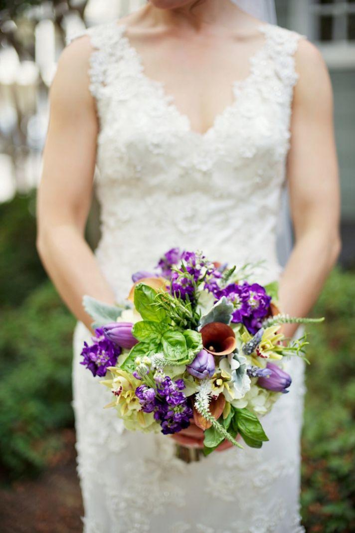 Unique urban bridal bouquet