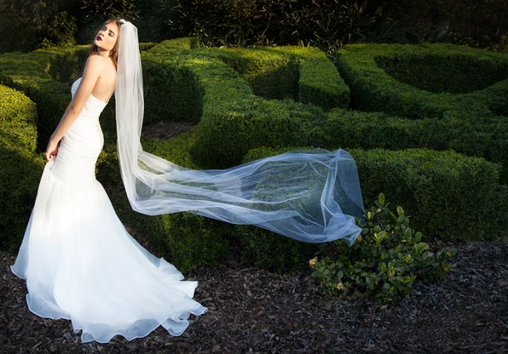Mikhela dress and veil from Made with Love