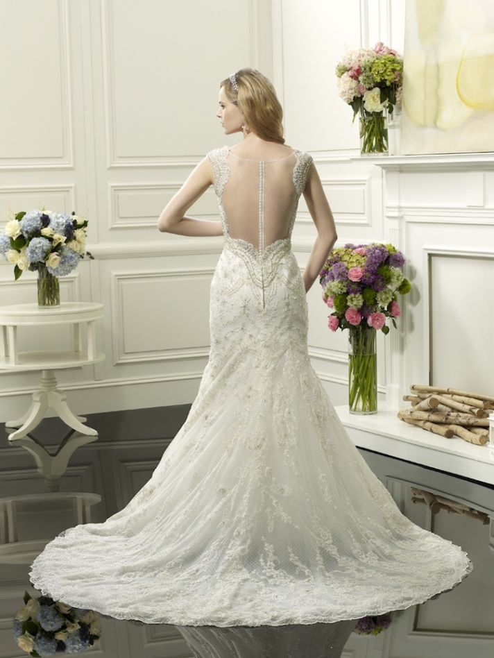 A line gown from Val Stefani