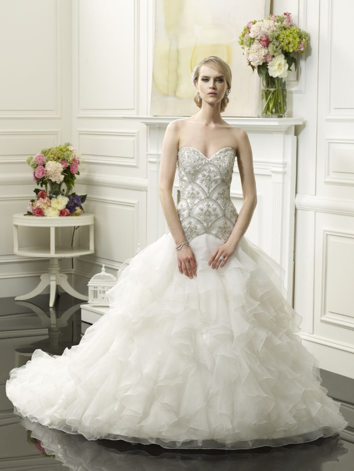 Glamorous wedding gown by Val Stefani