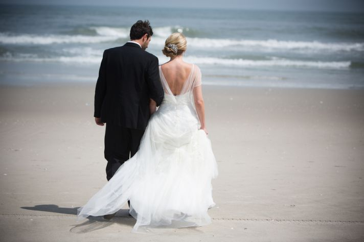 Beach scene from a real wedding