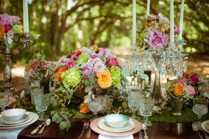 Outdoor elegance centerpieces