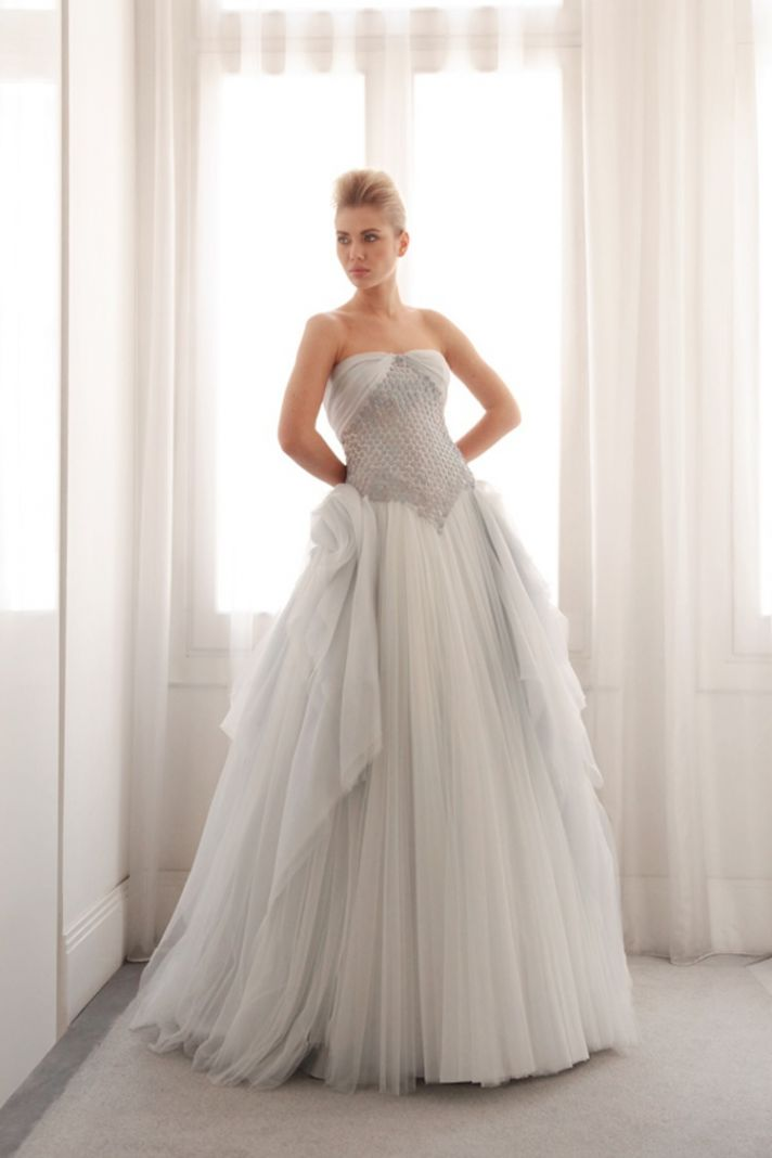 Blue ball gown by Gemy Bridal