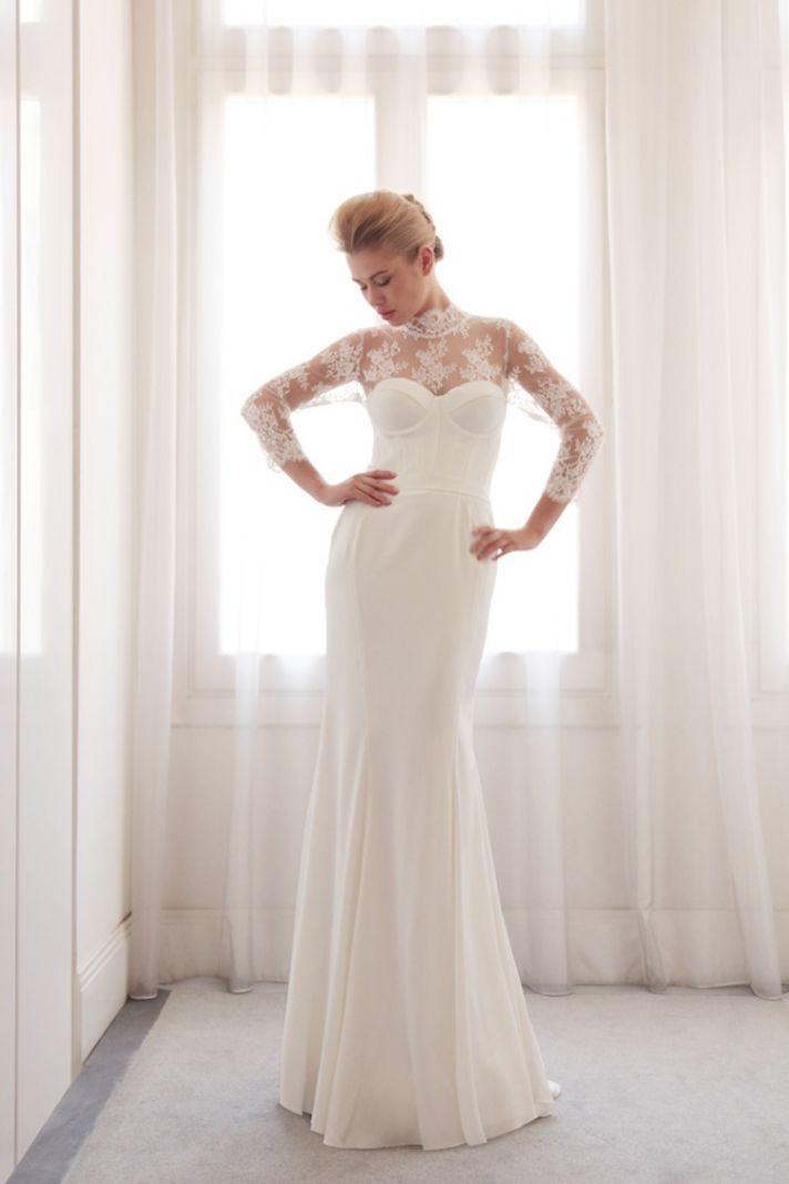 Illusion wedding gown by Gemy Bridal