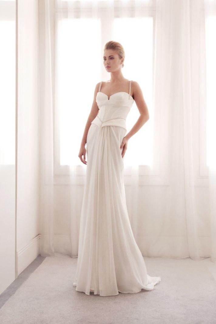 Peplum wedding gown by Gemy Bridal