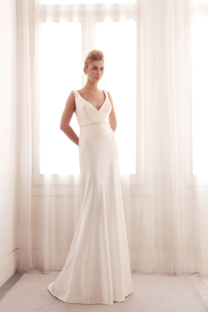 Sophisticated wedding gown by Gemy Bridal