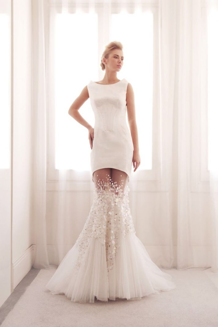 Sexy wedding dresses with attitude onewed for 2 piece wedding dresses