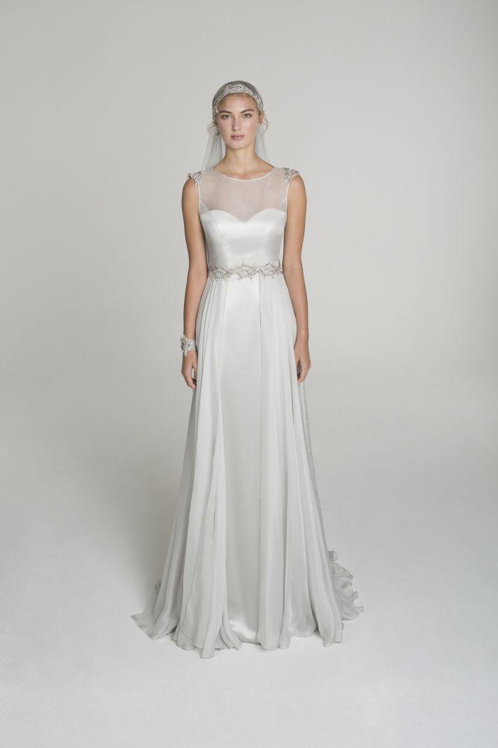 Illusion neckline wedding dress from Alana Aoun