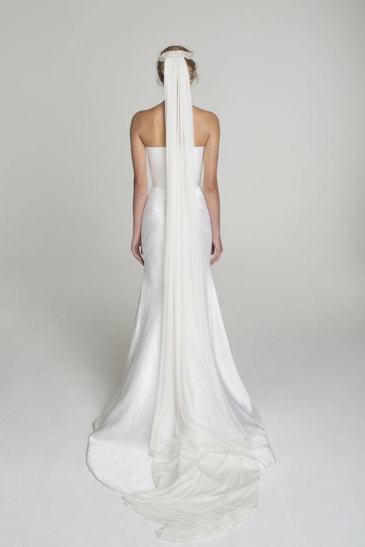 Strapless wedding dress from Alana Aoun