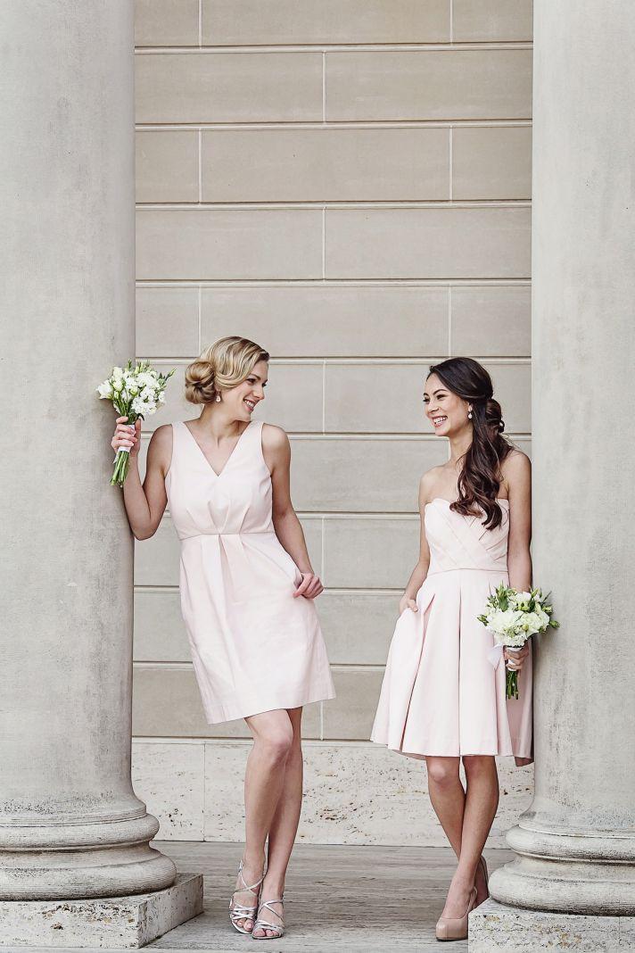 Blush bridesmaids dresses by Weddington Way
