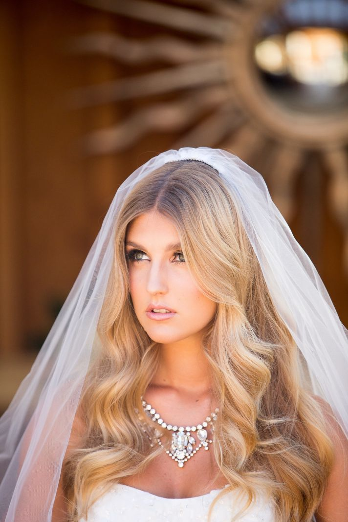 Gorgeous bride hair and makeup